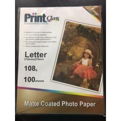 Papel Calcio 108 gramos x 100 hojas Carta